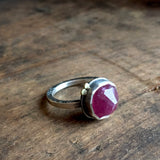 Galaxy Balance Ring with Pink Toumaline