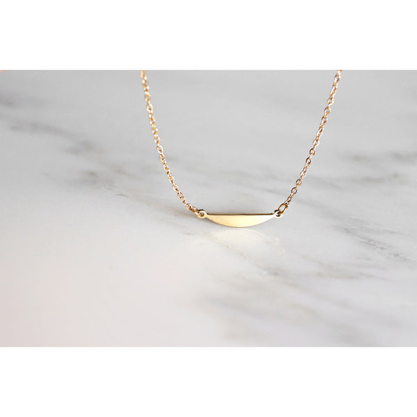 Shape Curve necklace - steel silver