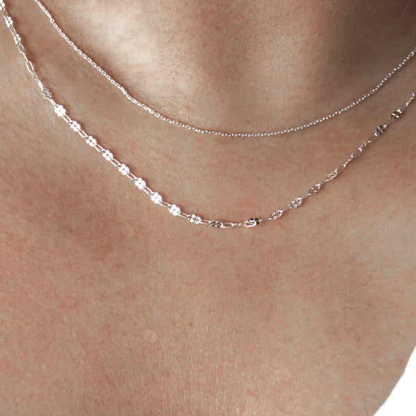 Lip Link Necklace - sterling silver