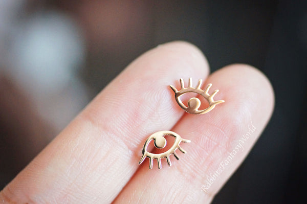 Eye Stud Earrings - 3 variants - titanium