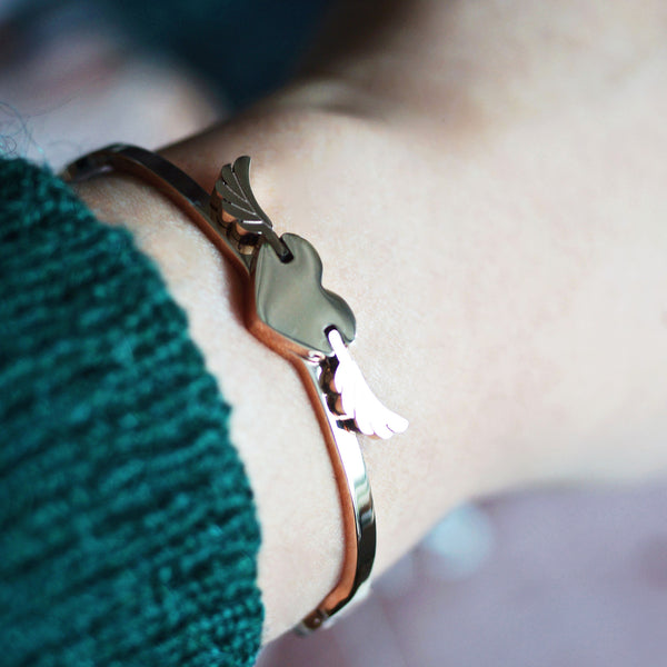 Flying Heart Bangle