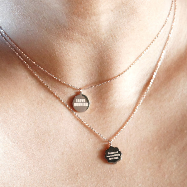 Runner Foodie Necklace - rose gold