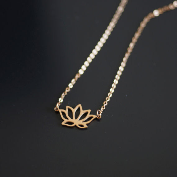 Lotus Flower Necklace - 3 colours