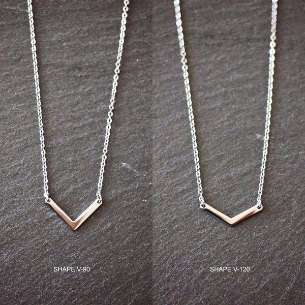 Shape V-90 necklace - 3 colours