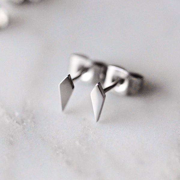 Spike Stud Earrings - 3 colours - titanium