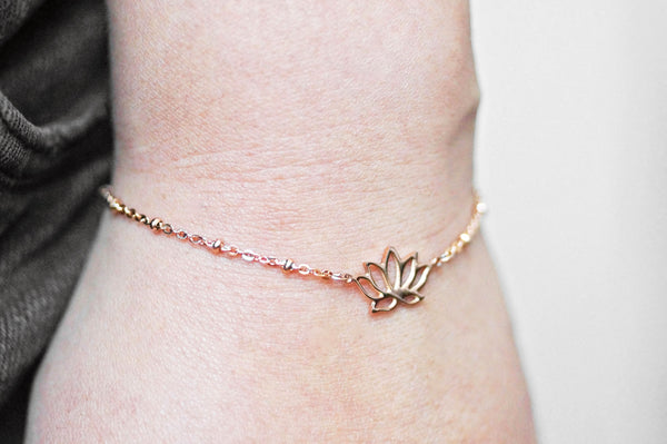Lotus Flower Bracelet / Anklet - 2 colours