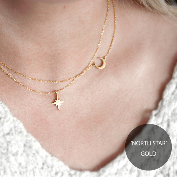 North Star Necklace - steel silver