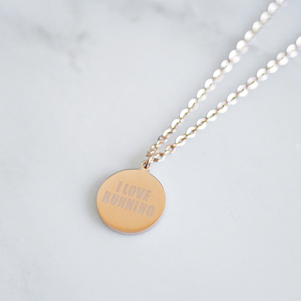 Runner Necklace - rose gold