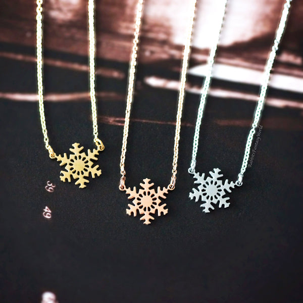 Snowflake Necklace - 3 colours