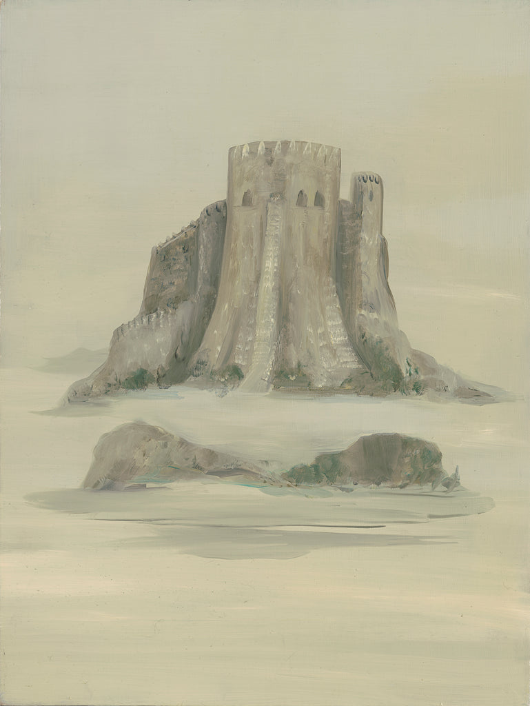 "Original 24"" x 18"" CJ Freeman Oracle Painting- ""The Castle"""