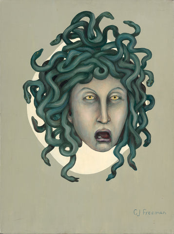 "Original 24"" x 18"" CJ Freeman Oracle Painting- ""Medussa"""