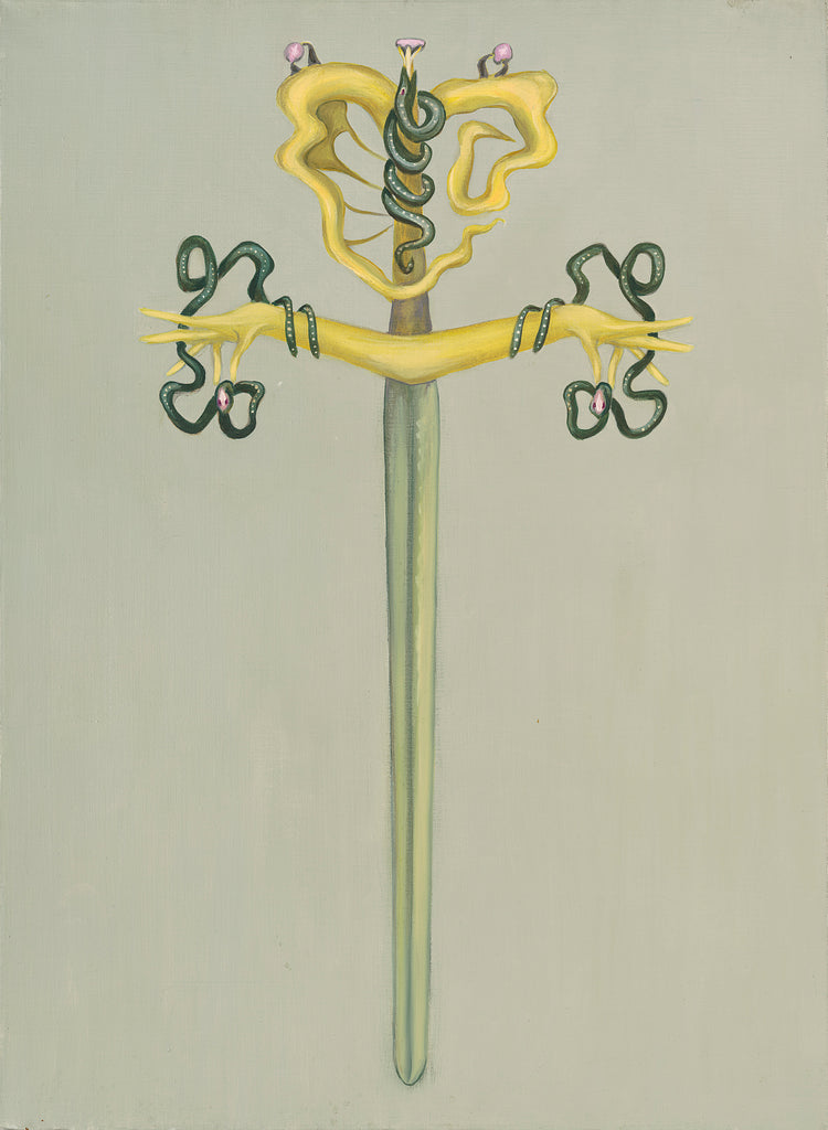 "Original CJ Freeman Oracle Painting- ""The Sword"""