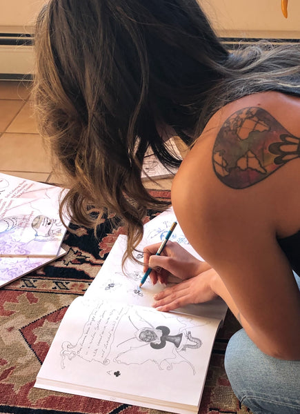 "Adult Oracle Coloring Book, ""The Dream Diaries"""