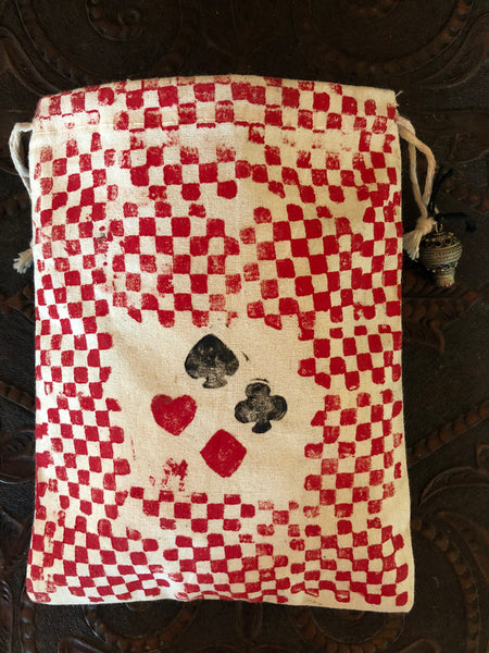 """8 of Clubs"" Handmade DECK BAG"