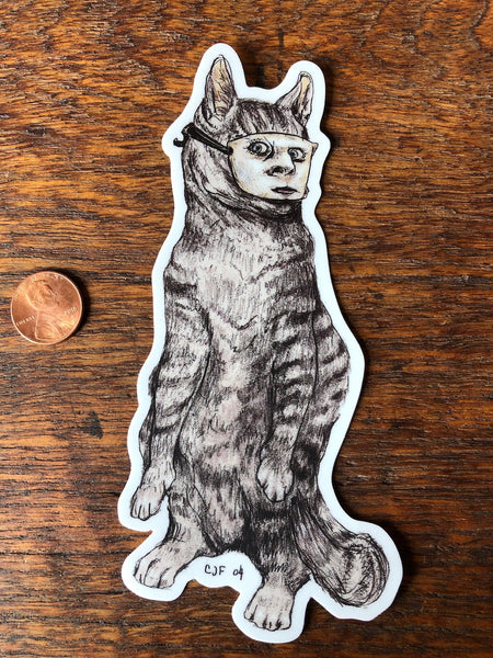 New! Masked Meow STICKER