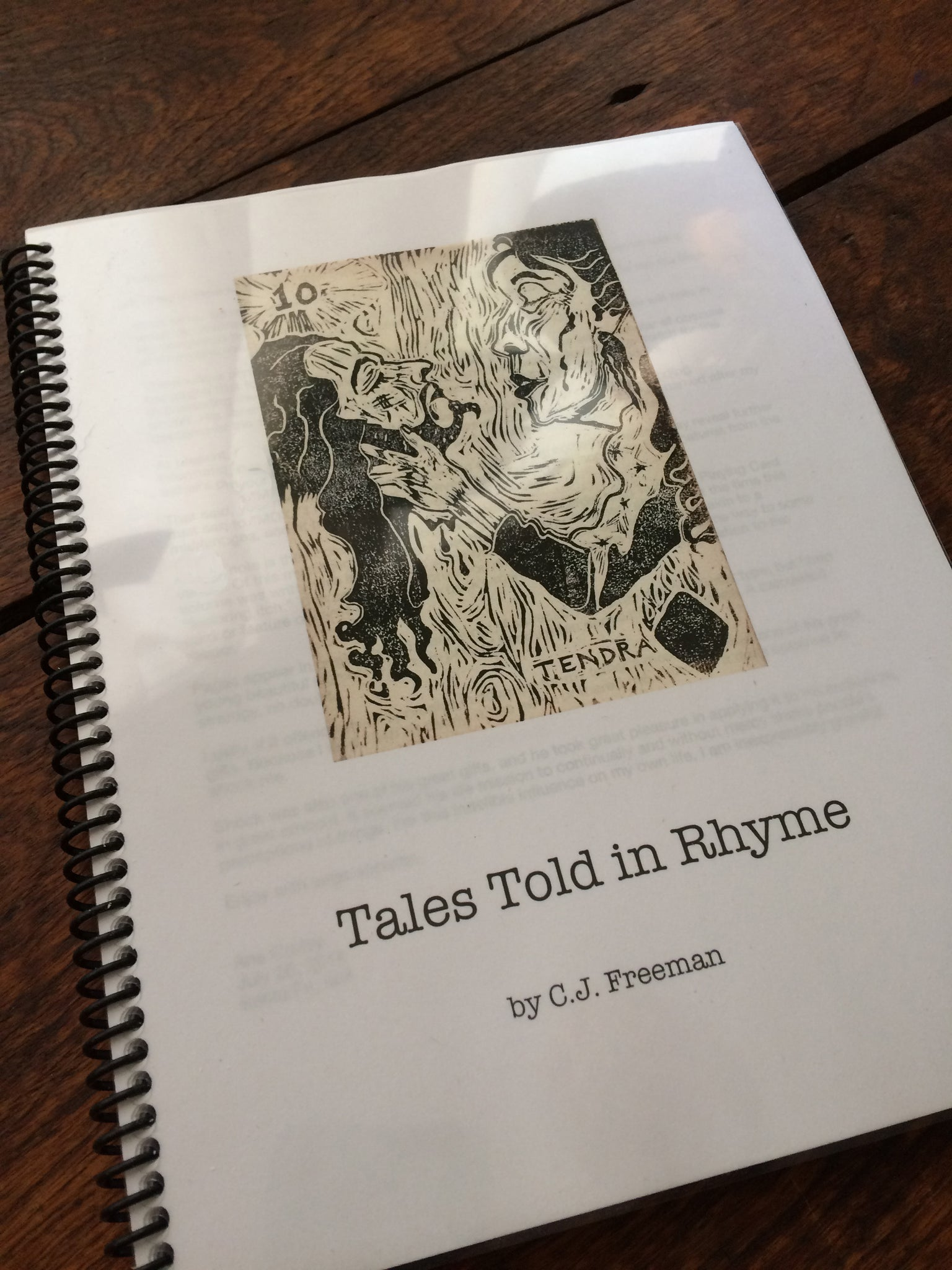 """Tales Told in Rhyme"" by CJ Freeman - Spiral Bound Paperback Book PLUS PDF eBook"