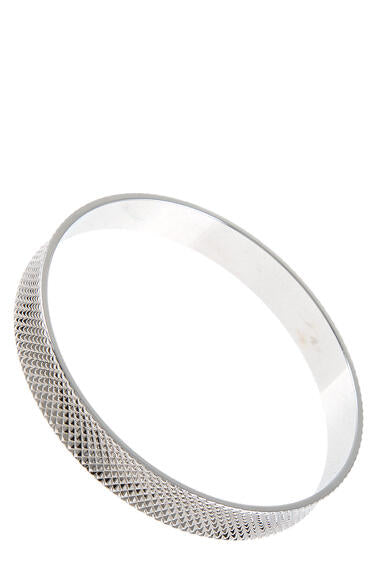 Textured Metal Bangle Bracelet