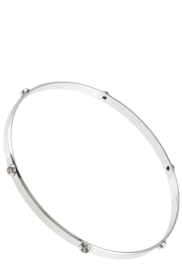 Tiny Crystals Accent Delicate Bangle
