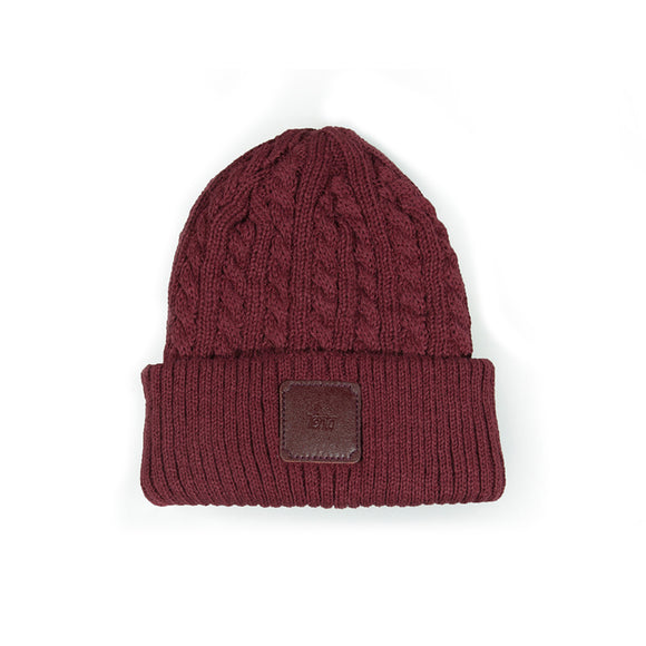 Braid Beanie  - Wine