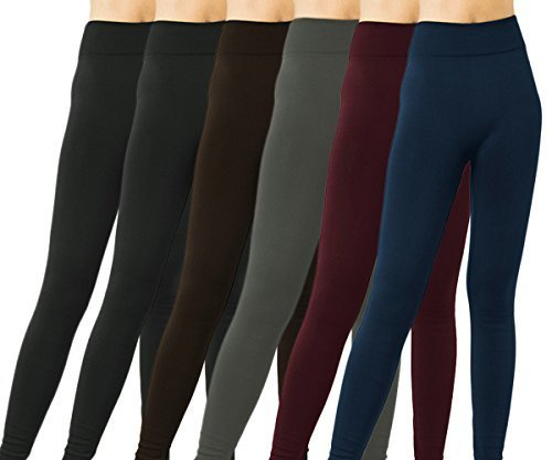 6 Pack Seamless Full Length Leggings