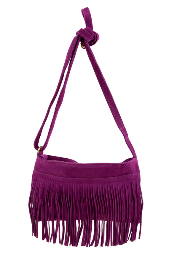 D&K Monarchy Genuine Leather Adjustable Tassel Fashion Bag