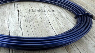 12 gauge aluminum wire for jewelry or crafts, 2mm round, 39 ft., royal blue
