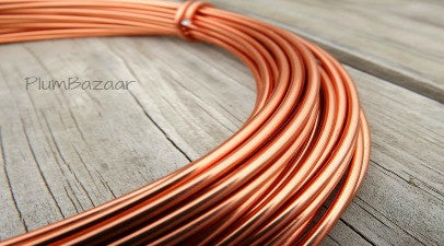 12 gauge aluminum craft and jewelry wire, 2mm round, 39 ft., copper color