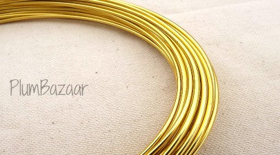 Aluminum wire tagged gold plumbazaar 12 gauge aluminum craft and jewelry wire 2mm round 39 ft gold greentooth Gallery
