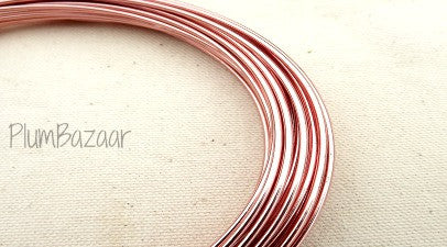 12 gauge aluminum craft and jewelry wire, 2mm round, 39 ft., rose pink