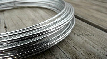 12 gauge aluminum craft and jewelry wire, 2mm round, 39 ft., silver