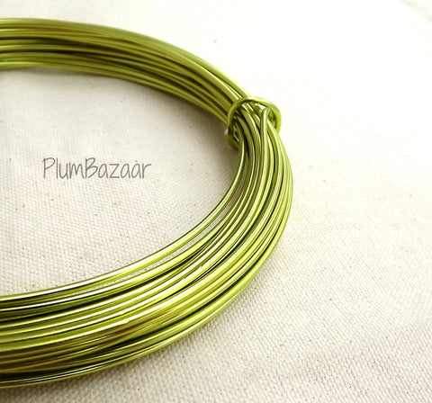 12 gauge aluminum craft and jewelry wire, 2mm round, 39 ft., apple green