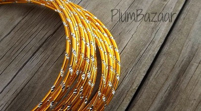 Aluminum wire, round 12 gauge 2mm, 32 ft., diamond cut, gold and silver