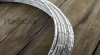 Aluminum wire, round 12 gauge 2mm, 32 ft., diamond cut, silver