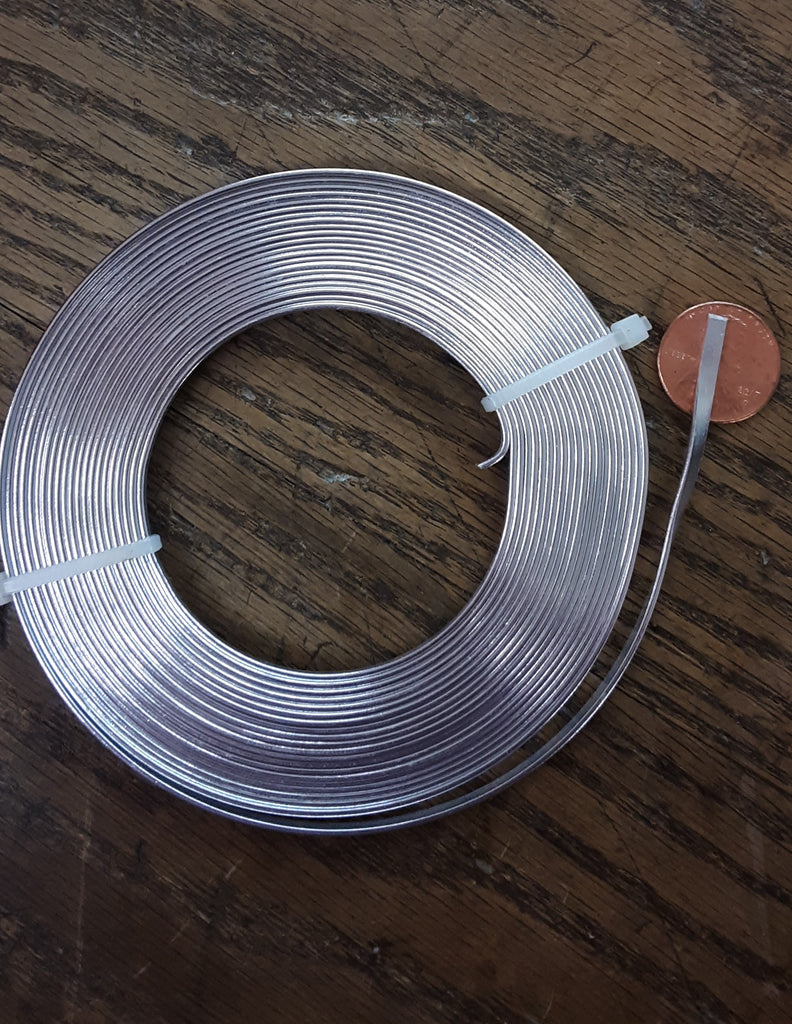 "3mm(1/8"") Flat Aluminum Wire, 16 ft. (5mtr.)"