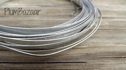 Aluminum wire for jewelry or crafts, 3mm flat embossed, 16 ft. coil, silver