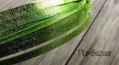 "5mm(13/64"") Aluminum Flat wire, embossed, 16 ft. coil, light green"