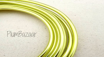 "6 gauge (1/4"")  Round Aluminum wire, 9.5 feet, apple green"