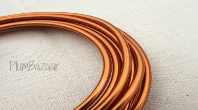"6 gauge (1/4"") aluminum wire, 9.5 feet, copper color"