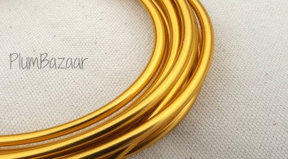 "6 gauge (1/4"") aluminum wire, 9.5 feet, gold"