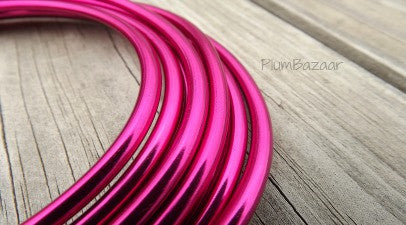 "6 gauge (1/4"") aluminum wire, 9.5 feet, hot pink"