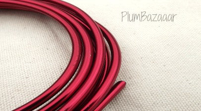 "6 gauge (1/4"") aluminum wire, 9.5 feet, red"