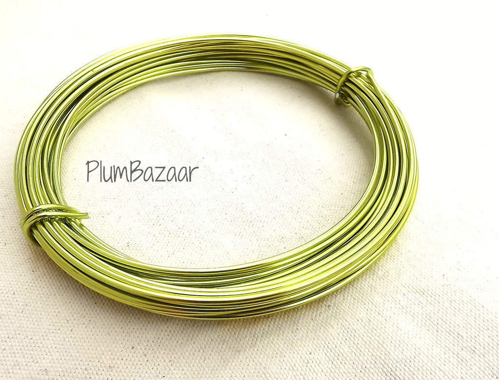 12 gauge aluminum craft and jewelry wire, 2mm round, 39 ft., apple ...