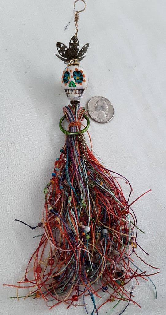 Day of the Dead/ Halloween Pendant/Doll Free Shipping in continental U.S.A.