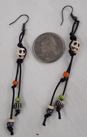 Day of the dead/Halloween Earrings, Free Shipping in continental U.S.A.