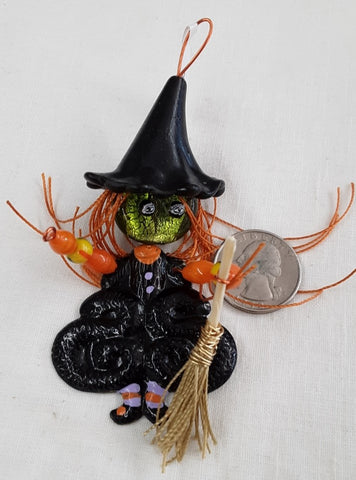 Halloween Witch Pendant, Decoration Free shipping in continental U.S.A.