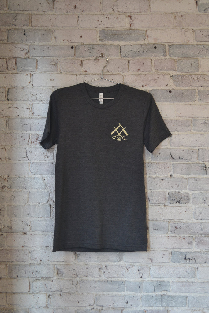 OG Tee-Heather Charcoal/Cream