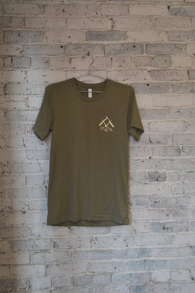 OG Tee-Heather Olive/Cream