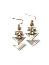Pearlescent Geometric Earrings