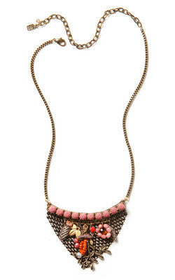 Floral Shield Necklace by Elements Jill Schwartz