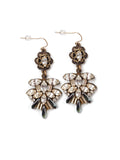 Ruffled Rhinestone Earrings #AA01E